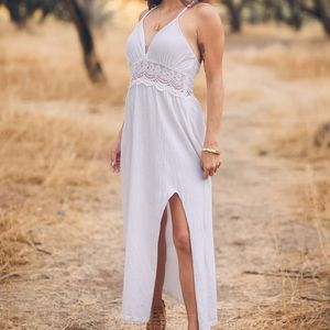 ASOS Petite White dress with slit